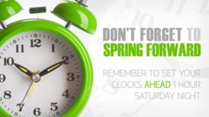 Spring Forward and check your timer