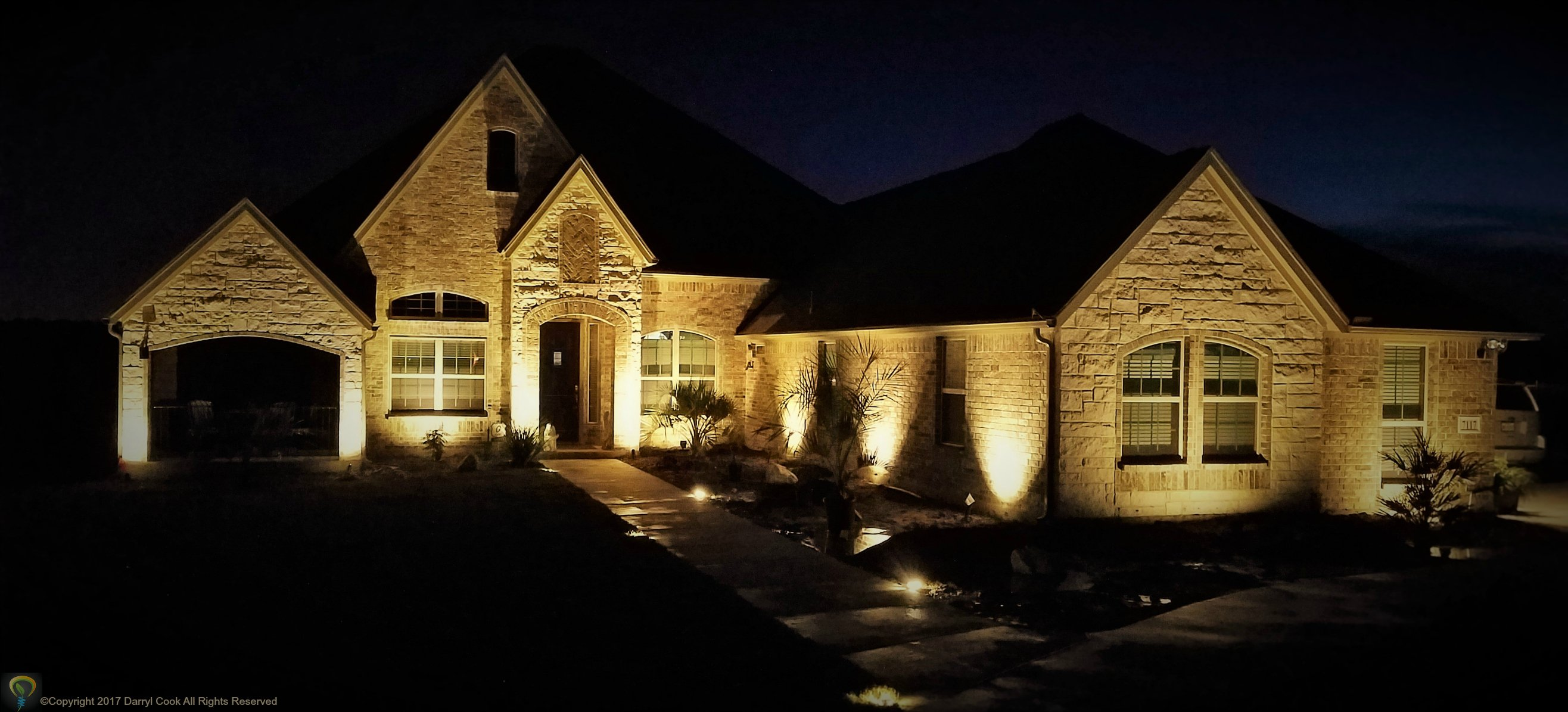 Warm Led Up Lighting Landscape Guru Fair Oaks Ranch